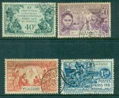 New Caledonia 1931 Colonial Expo. (tone Spots) FU Lot49514 - Oblitérés