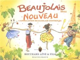 Etiket Etiquette - Vin - Wijn - Beaujolais Nouveau - Bouchard Ainé & Fils  2014 - Beaujolais