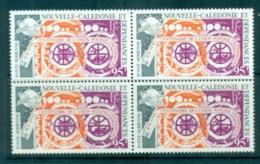 New Caledonia 1974 Centenary Of UPU Blk 4 MUH Lot76383 - New Caledonia