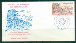 New Caledonia 1976 American Bicentennial FDC - New Caledonia
