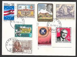 RADENTHEIM Kärnten Spittal 8 Briefmarken 1985 - Spittal An Der Drau