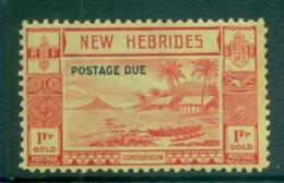 New Hebrides (Br) 1938 Postage Dues Opts 1fr (gum Tones) MUH - English Legend