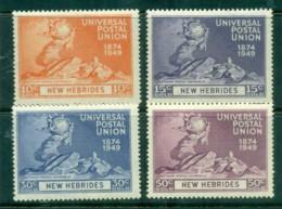 New Hebrides (Br) 1949 UPU 75th Anniv. MLH - English Legend