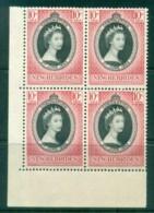 New Hebrides (Br) 1953 Coronation Blk 4 MUH - English Legend