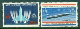 New Hebrides (Br) 1968 Concorde MUH - English Legend