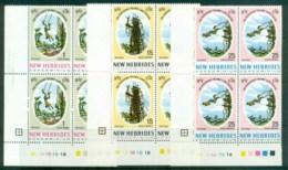 New Hebrides (Br) 1969 Land Divers Of Pentecost Blk4 MUH - English Legend