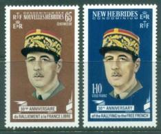 New Hebrides (Br) 1970 Charles De Gaulle MUH - English Legend