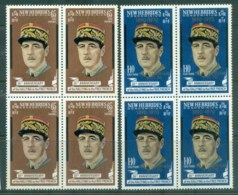 New Hebrides (Br) 1971 Charles De Gaulle Opt In Memoriam Blk 4 MUH - English Legend