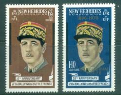New Hebrides (Br) 1971 Charles De Gaulle Opt In Memoriam MUH - English Legend