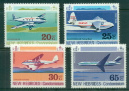 New Hebrides (Br) 1972 Airplanes MUH - English Legend