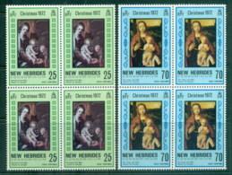 New Hebrides (Br) 1972 Xmas Nativity Blk4 MUH - English Legend