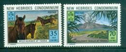 New Hebrides (Br) 1973 Tana Is, Volcano, Wild Horses MUH - English Legend