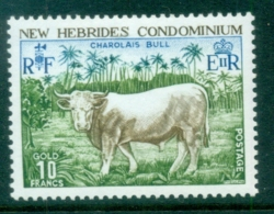 New Hebrides (Br) 1975 Charolais Bull MUH - English Legend