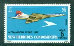 New Hebrides (Br) 1976 Concorde MUH - English Legend