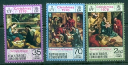 New Hebrides (Br) 1976 Xmas MUH - English Legend