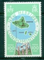 New Hebrides (Br) 1977 Island Maps 100 Fr MUH - English Legend