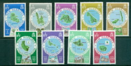 New Hebrides (Br) 1977 Island Maps MUH - English Legend