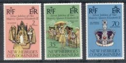New Hebrides (Br) 1977 QEII Silver Jubilee MUH - English Legend