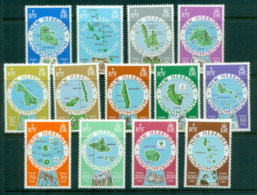 New Hebrides (Br) 1977-78 Island Maps MUH - English Legend