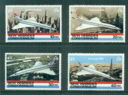 New Hebrides (Br) 1978 Concorde MUH - English Legend