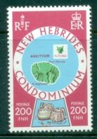 New Hebrides (Br) 1978 Island Maps 200 Fr MUH - English Legend