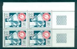 New Hebrides (Fr) 1974 Centenary Of UPU Blk 4 MUH Lot76382 - French Legend