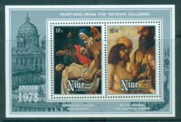 Niue 1978 Paintings From The Vatican Galleries MS MUH - Niue