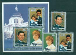 Niue 1981 Charles & Diana Wedding + MS MUH Lot30048 - Niue