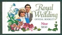 Niue 1981 Charles & Diana Wedding Booklet Lot45346 - Niue