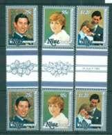 Niue 1981 Charles & Diana Wedding Gutter Prs MUH Lot45129 - Niue