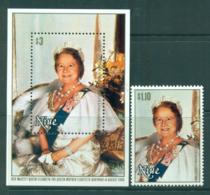 Niue 1981 Queen Mother 80th Birthday + MS MUH Lot30052 - Niue