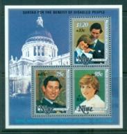 Niue 1981 Royal Wedding Charles & Diana , Welfare MS MUH - Niue