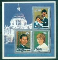 Niue 1981 Royal Wedding, Charles & Diana MS MUH - Niue