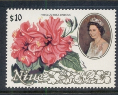 Niue 1981-82 Pictorials, Flowers $10, Hibiscus MUH - Niue