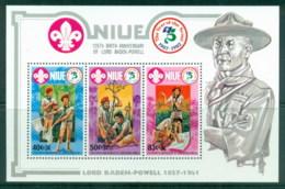 Niue 1983 Bayden Powell, Boy Scouts MS MUH - Niue