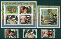 Niue 1985 Queen Mother 85th Birthday Sheetlet, Set, MS MUH Lot30057 - Niue