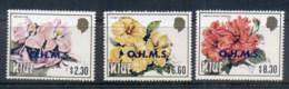Niue 1985-87 Flowers Opt OHMS, $2.30, 6.60, 8.30 MUH - Niue