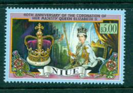 Niue 1993 QEII 40th Wedding Anniv MUH Lot30054 - Niue