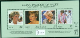 Niue 1998 Princess Diana In Memoriam, Diana & Mother Theresa MS MUH - Niue