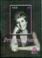 Niue 2007 Princess Diana In Memoriam, 10th Anniv., A Carefree Princess MS MUH - Niue