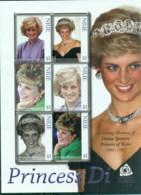 Niue 2007 Princess Diana In Memoriam, 10th Anniv., Close-ups Of Princess Diana MS MUH - Niue