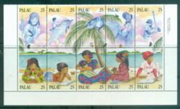 Palau 1989 Literacy Blk4 MUH - Palau