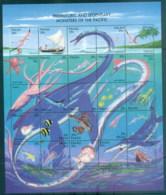 Palau 1993 Prehistoric & Legendary Monsters Of The Pacific Sheetlet MUH - Palau