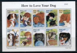 Palau 1999 How To Love Your Dog Sheetlet MUH - Palau