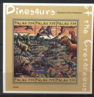 Palau 2000 Prehistoric Animals, Dinosaurs Sheetlet 33c MUH - Palau