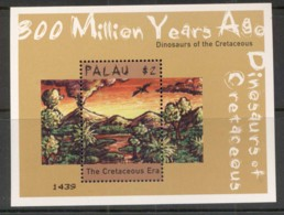 Palau 2000 Prehistoric Animals, Dinosaurs Sheetlet MUH - Palau