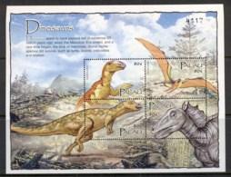 Palau 2004 Prehistoric Animals, Dinosaurs Sheetlet MUH - Palau