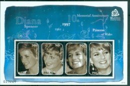 Palau 2007 Princess Diana In Memoriam, 10th Anniv., Diana's Warm But Shy Smile MS MUH - Palau