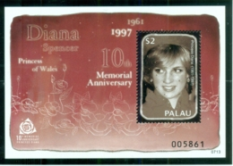 Palau 2007 Princess Diana In Memoriam, 10th Anniv., Forever England's Rose MS MUH - Palau