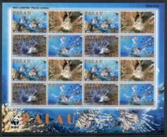 Palau 2009 WWF Red Lionfish Sheetlet MUH - Palau